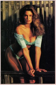 Cindy Crawford in a Swimsuit For a Marc Hispard Photoshoot in 1988