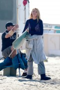 Blake Lively - Filming 'The Shallows' in Malibu 4/12/16