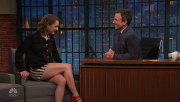 Maisie Williams @ Late Night with Seth Meyers   April 13 2016