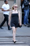Dakota Fanning - in Mini Dress Out in New York April 20, 2016