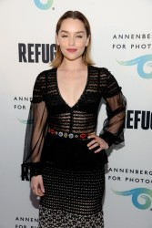 Emilia Clarke - Opening of REFUGEE Exhibit At Annenberg Space For Photography in Century City 4/21/16