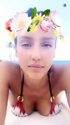 Jessica Alba in a Bikini - 4/21/16 Snapchat