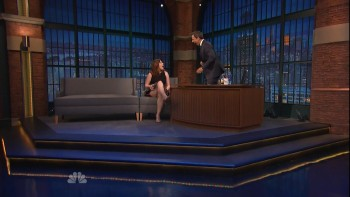 VANESSA BAYER *thigh flash & Interview* - seth meyers - 21 JULY 2015