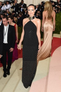 Olivia Wilde at the Met Gala 2016 May 2, 2016