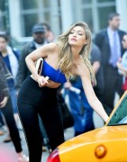 Gigi Hadid - On set of a Maybelline Commercial in NYC 5/12/16