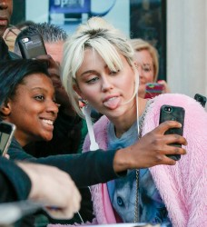 Miley Cyrus - Leaving her hotel in NYC 5/16/16