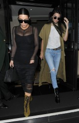 Kendall Jenner & Kim Kardashian - Leaving their hotel in London 5/23/16