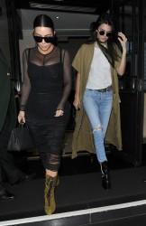 Kendall Jenner & Kim Kardashian - Leaving their hotel in London 5/23/16