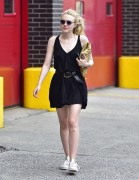 Dakota Fanning - in Short Black Dress out in NYC May 27, 2016