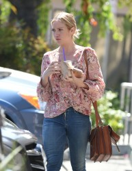 Brittany Snow - At Coffee Bean & Tea Leaf LA 6/16/16