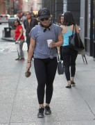 Hilary Duff - Leaving the gym in NYC 6/20/16
