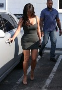 Kim Kardashian - Wearing a short dress in LA 6/21/16