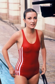 Jane Seymour: Red One-Piece - 'Very Revealing'  HQ x 1