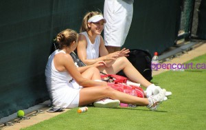Genie Bouchard - Wimbledon practice session - 06/24/2016