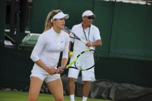 Genie Bouchard - Wimbledon practice session - 06/25/2016