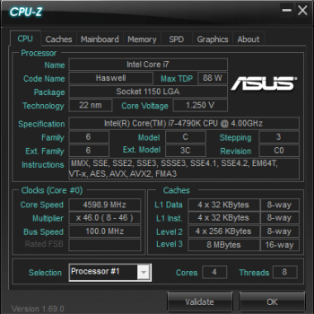 CPU overclock - comments wanted (i7 4790k @ 4 6GHZ) - MOBO | RAM