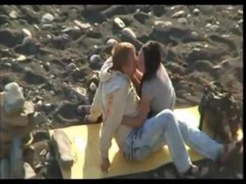 Public orgy at the beach -