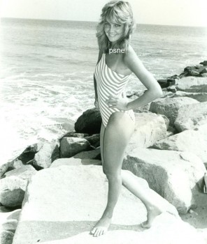Heather Locklear: 80's Bikini: B&W *Tagged* MQ x 1