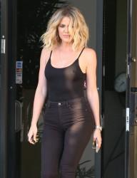 Khloe' Kardashian - Braless Out In LA (7/12/16)