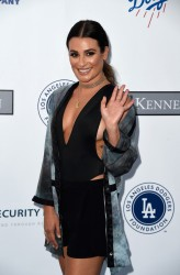 Lea Michele - the Los Angeles Dodgers Foundation Blue Diamond Gala 7/28/16