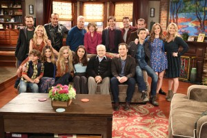 Sabrina Carpenter in Girl Meets World/Boy Meets World cast pic x1