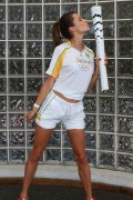Alessandra Ambrosio -                Posing With The Olympic Torch Rio De Janeiro August 5th 2016.