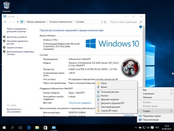 Windows 10 Professional 10.0.14393 Version 1607 x86/x64 Update 1 by YelloSOFT (2016) RUS