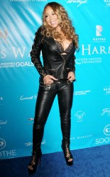 Mariah Carey - Wears Black Leather Attending Harm's Way Foundation Gala (8/10/16)