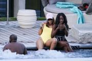 Rihanna | Swimsuit Candids poolside in Zurich [Switzerland] | August 12 | 4 pics + 59 adds