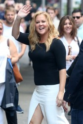 Amy Schumer - Arriving at Good Morning America in NYC 8/16/16