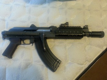 AK Draco SBR with VZ58 folding stock SHOOTS Guns t