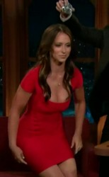 Jennifer Love Hewitt - Dances In A Sexy Red Dress on The Late, Late Show