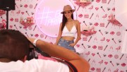 Victoria Justice clevage at Soap & Glory 'Beauty Boudoir' at Mackapoolooza, August 2016