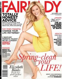 Elizabeth Banks -                           Fairlady Magazine September 2016.