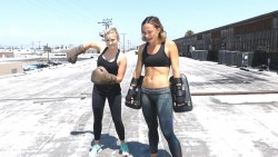 Emily Osment Boxing on a Roof - Briana Tells All - 8/23/16