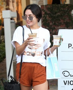 Vanessa hudgens stopped by the kate somerville skin care for Kitchen 24 west hollywood