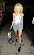 Pixie Lott | Leaving the Theatre Royal Haymarket in London | August 24 | 27 pics