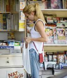 Emma Roberts - At Sam's Bagels in LA 8/29/16