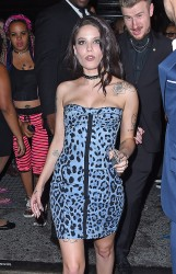 Halsey - Arriving at Up and Down Nightclub in NYC *Upskirt* 8/28/16