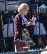 Abigail Breslin on the set of 7