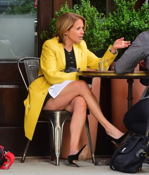 KATIE COURIC *leg show, wow*