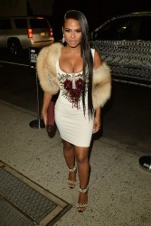 Christina Milian - Nice Cleavage Arriving At The Blonds Fashion Show in New York (9/10/16)