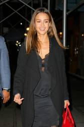 Jessica Alba - Out for dinner in NYC 9/10/16