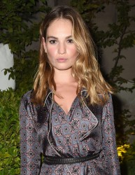 Lily James - Burberry Fashion Show in London 9/19/16