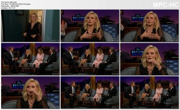 KRISTEN BELL *legs, thigh, leg-cross* Late Late show w/ James Corden (2016.09.22)