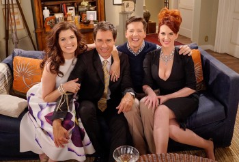 Megan Mullally *lowcut cleavage* - Will & Grace (2016 election)