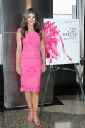 Elizabeth Hurley - Lights the Empire State Bldg Pink in NYC 9/30/2016