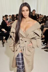 Kim Kardashian - Balenciaga Fashion Show in Paris 10/2/16