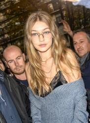 Gigi Hadid - Arriving at her hotel in Paris 10/2/16