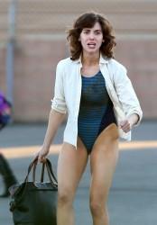 Alison Brie - On the set of 'G.L.O.W' in LA 10/3/16
